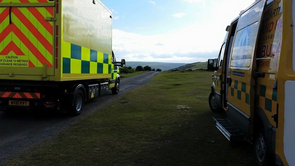 Dartmoor Search and Rescue Ashburton volunteers worked alongside ambulance personnel to effect a rescue from the Upper Dart Valley