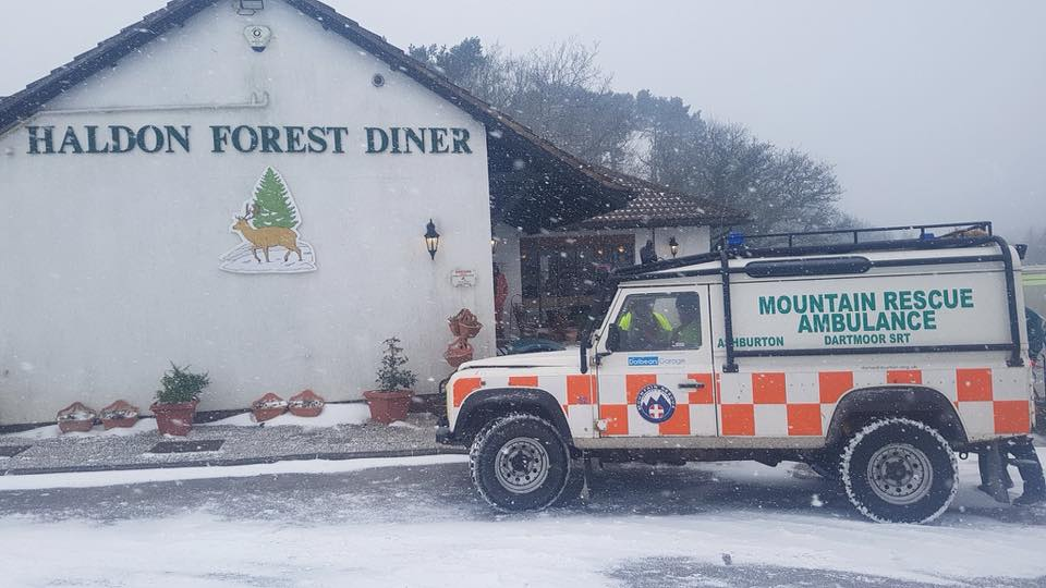 A very big thank you to Haldon Forest Diner for letting us use their premises as a base for our volunteers