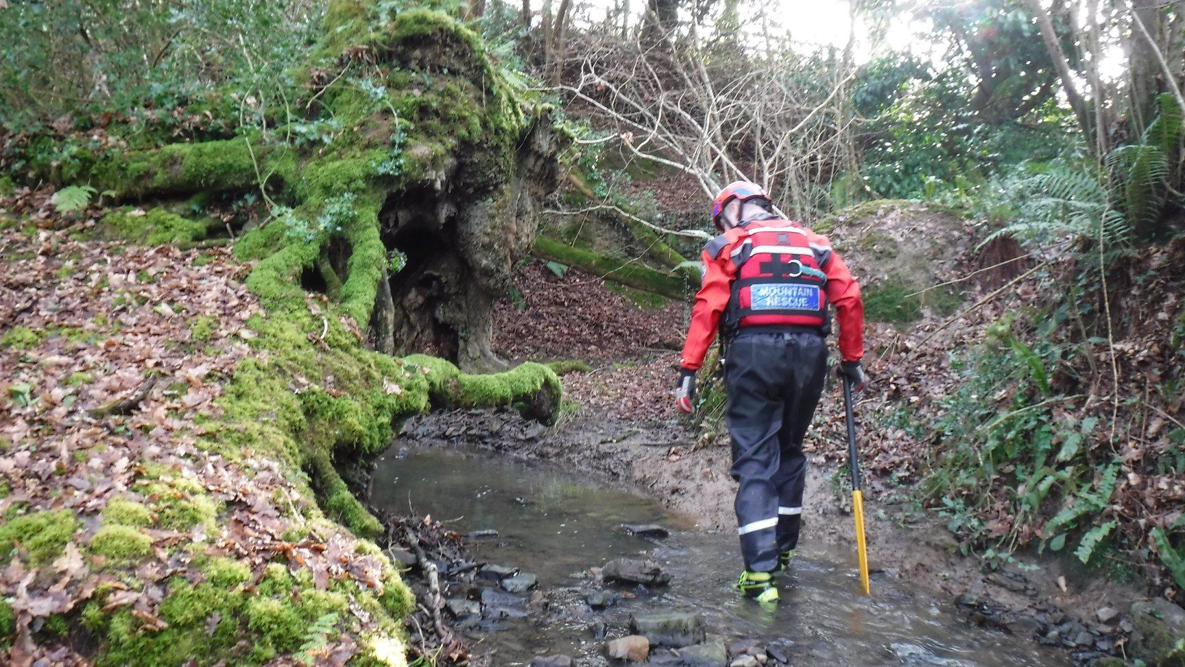 Ashburton swift water rescue specialists searching for a missing male outside Exeter