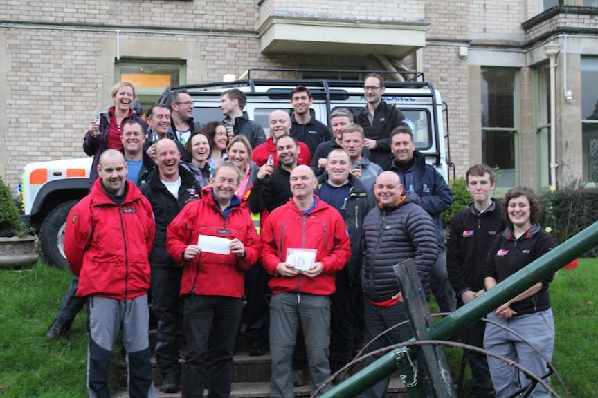Cheque presentation to Dartmoor Search and rescue Ashburton from St James's Place Investment Management.