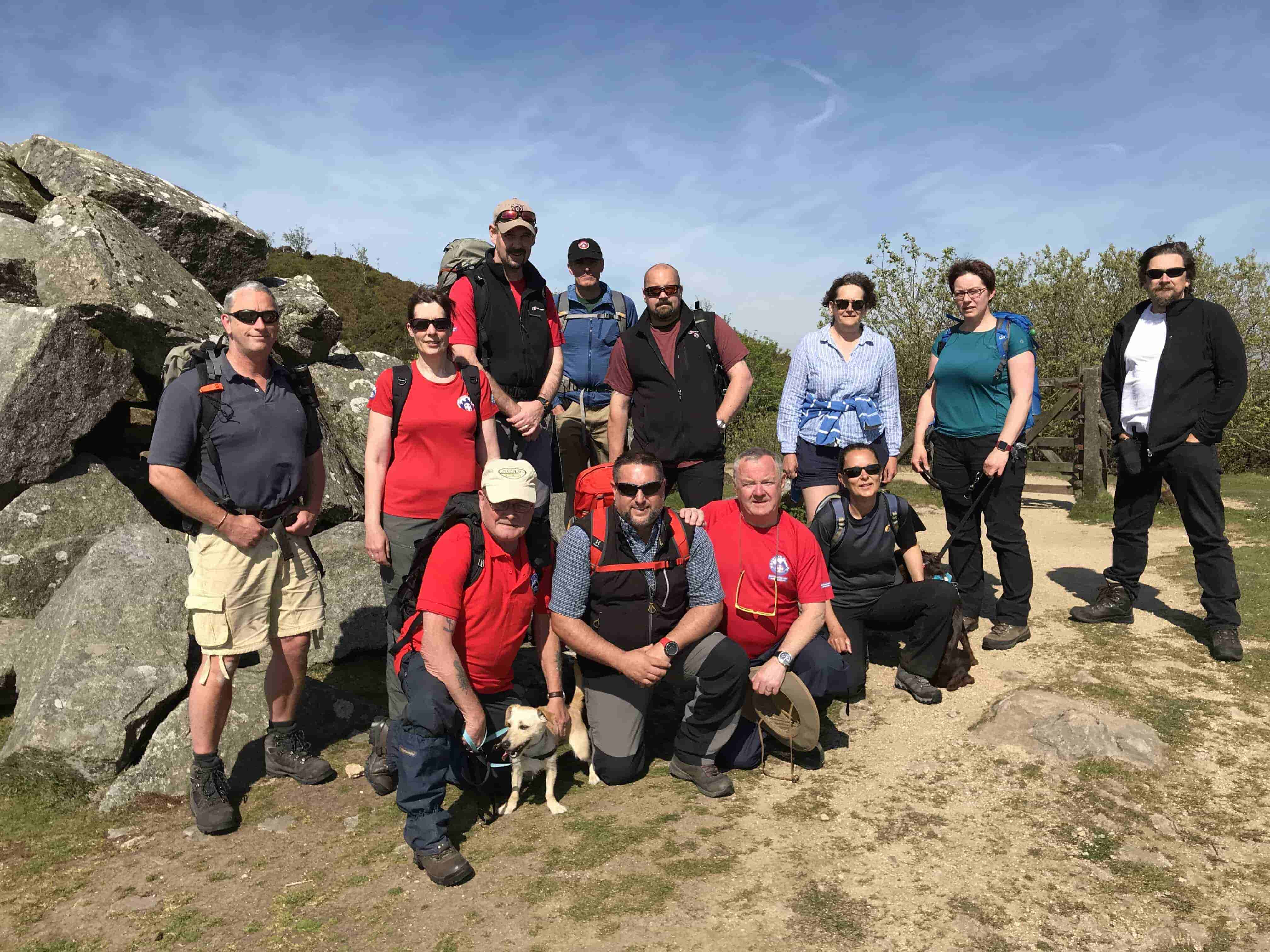 Team members meet to remember team mate Pauline who died whilst on duty at Ten Tors this year