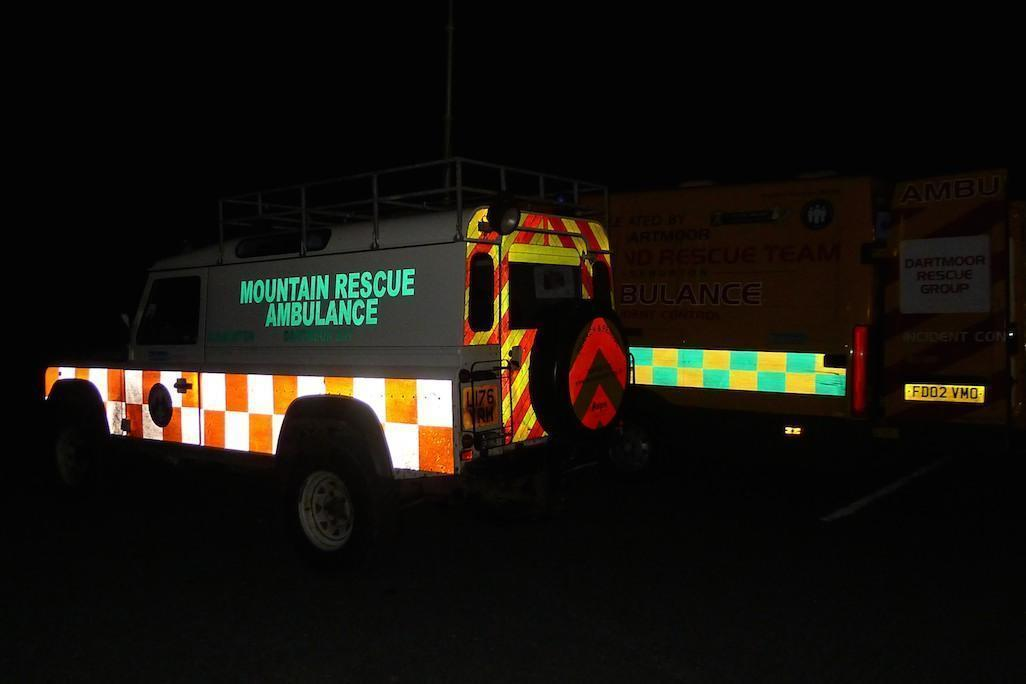 Our Mountain rescue Landrover DART52 at Teignmouth Golf Course