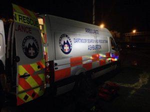 Dartmoor Search and Rescue Ashburton Control vehicle Dart02 on site at a missing person enquiry in Exeter