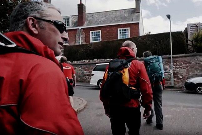 Dartmoor Search and Rescue Ashburton volunteers set out an urban search in Exeter, Devon for a missing person