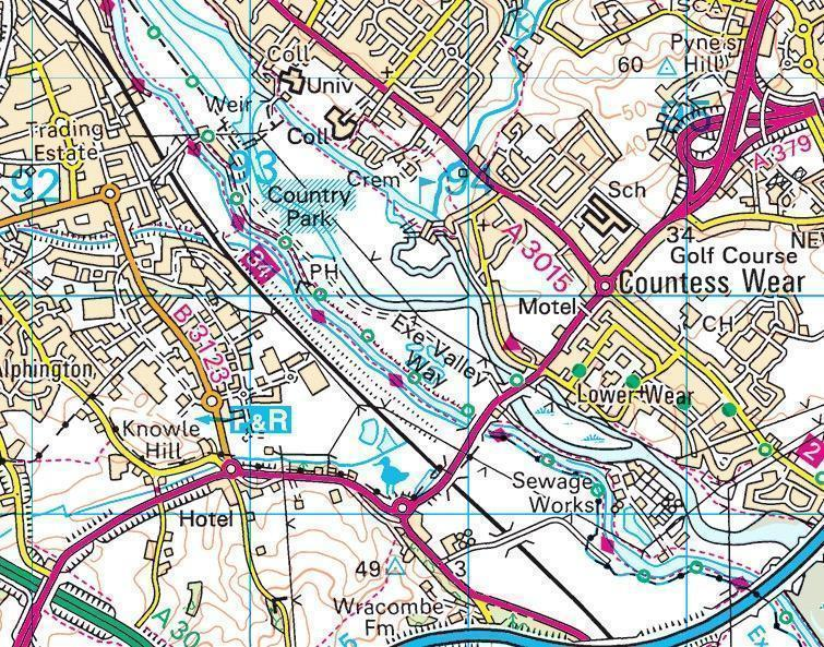 Our search was concentrated around the Counteewear bridge area of the City of Exeter