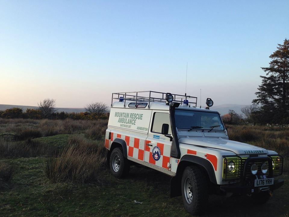 Dartmoor Search and rescue team Ashburton Landrover ambulance DART52