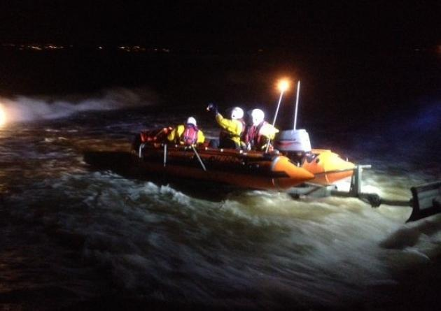 Exmouth inshore lifeboat in action