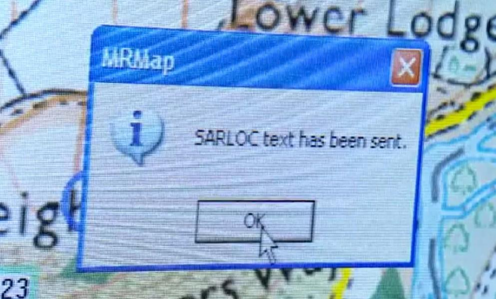 sarloc an application developed by Mountain Rescue England and Wales to assist in the finding of lost walkers