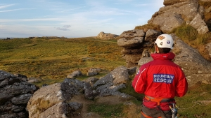 Dartmoor Rescue volunteers training on Dartmoor