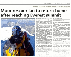 Dartmoor Rescue climber summits Mount Everest