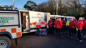 Dartmoor Rescue volunteers searching at Ivybridge on the edge of Dartmoor