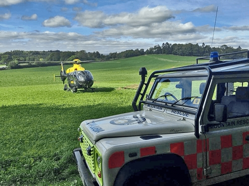 Vulnerable man airlifted to hospital from Dartington