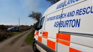Dartmoor Search and Rescue Ashburton incident control near Moretonhampstead, Dartmoor National Park